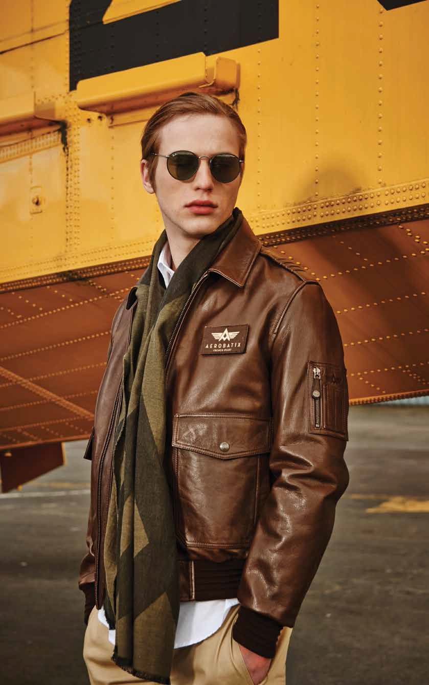 blouson cuir aviateur flight jacket et bomber tout pour les hommes. Black Bedroom Furniture Sets. Home Design Ideas