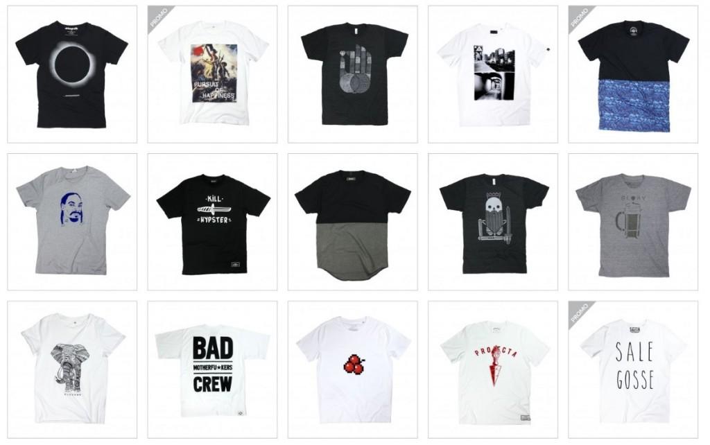 Capture ecran boutique en ligne tshirt
